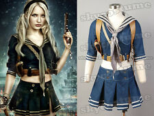 Sucker Punch Baby Doll Set Outfit Cosplay Jacket+Skirt+Belt+Scarf+Holder XS~XL