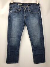 AG Adriano Goldschmied Tomboy Relaxed Straight Crop Capri Jeans size 25