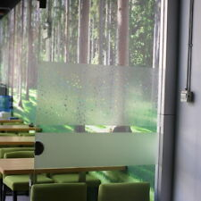 Privacy Frosted Self Static Cling Glass Window Film Mesh No Glue Grid Home Decor