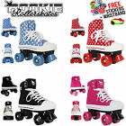 Rookie Kids Roller Lace Up Skates Boots, 4 Colours! UK Sizes Retro Quad Skates