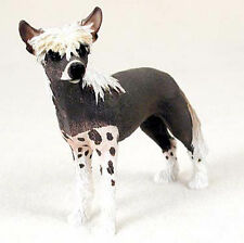 Chinese Crested Hand Painted Collectible Dog Figurine
