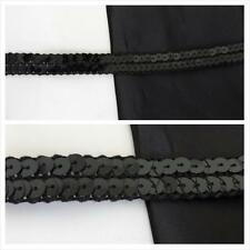 """wholesale roll of 72 yards of black flat sequins tull 2 rows trim 5/8"""" W."""