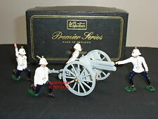 Britains 8918 royal horse artillery canon 13LB + détachement toy soldier figure set