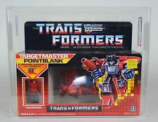 Transformers G1 Targetmaster Pointblank AFA 75 EX+/NM 75 85 90 1987 MISB New