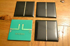 4 Pcs Polycrystalline mini solar panel 1V 440ma 0.44watts