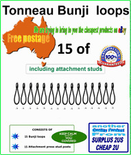 Tonneau Bungee Shock Cord Loops 15 pk 90mm with free rivets and free postage