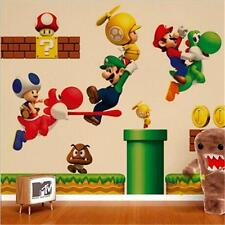 Decor Wallpaper Super Mary Mario Home Kid Bed Nursery Wall Stickers Mural Decal
