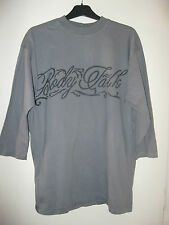 LADIES / MENS GREY BODYTALK 3/4 SLEEVED LONG TOP. UNSIZED 14 /16 M / L.