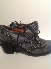 Jeffrey Campbell Sonoma Lace Up Studded Oxfords Booties Heels 8.5 Retails $159.9