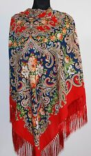 Large Slavonic Russian folk vintage style scarf shawl new Winter 2017