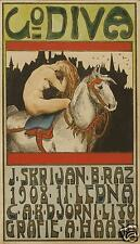 Lady Godiva 1908 Poster Bohemian Coventry Horse 12x8 Inch Poster Reprint