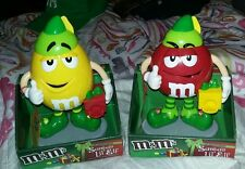 "M&M'S Limited Edition Santa's Lil' Elf ""YELLOW & RED"" Candy Dispenser"