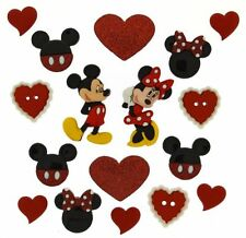 Jesse James Buttons~ Dress It Up - Be My Valentine Mickey & Minnie COMBO