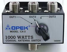 3 Position Coax Antenna Switch 1KW Rated - Sold by W5SWL Ham Store