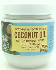 Organic Raw Extra Virgin 100% Natural Edible Coconut Oil All Purpose Hair & Skin