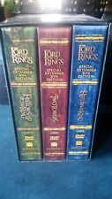 LORD OF THE RINGS Fellowship + Two Towers + Return of the King DVD Box Set