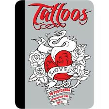 TATTOOS : 30 Postcards to Color and Send : WH2-R6B : PBS790 : NEW BOOK