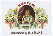 Nectar, cigar box label, lady drinking from pink glass