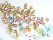 #222 Vintage Swarovski Rhinestones Light Amethyst Prong Pronged Setting 3mm NOS