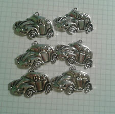 BARGIN SALE  TIBETAN SILVER  [ 6 ]OLD TYPE CARS FOR CRAFTS ETC