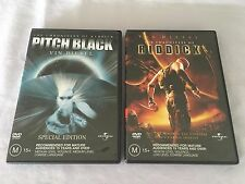 PITCH BLACK SPECIAL EDITION & THE CHRONICLES OF RIDDICK VIN DIESEL 2 X DVD's
