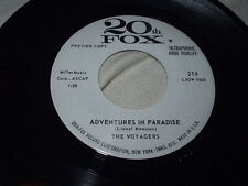 THE VOYAGERS Adventures in Paradise/The Traveling Salesman 45 Exotica Surf Promo