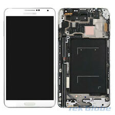White LCD Touch Screen Digitizer + Frame for Samsung Galaxy Note 3 N900A ATT