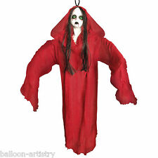"44"" Halloween Gothic Doll Woman Blood Red Lady Hanging Party Decoration"
