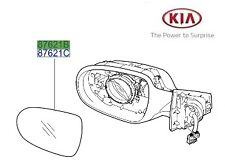 Genuine Kia Sorento 2010-2013 Mirror Glass Passenger Side - LH 876112P030