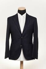 New BOGLIOLI MILANO Fine Wool Jacket Dark Blue Deconstructed 36US 46EU Slim Fit