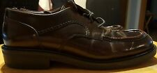 Bass dress oxfords made in ITALY mahogany size 10-M mens leather with laces nice