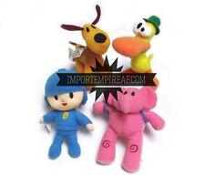 POCOYO SET 4 PELUCHE PUPAZZI personaggi Pato Elly Loula cartone plush doll gioco