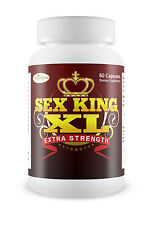 SEX KING XL NATURAL MALE ENHANCMENT SEX PILL STRONG ERECTION 60 Capsules NEW!!