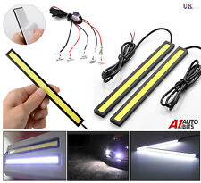 14CM LED DRL STRIP DAYTIME RUNNING WHITE COB LIGHTS & RELAY DIMMER HARNESS