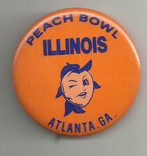 1985 Peach Bowl ILLINOIS FIGHTING ILLINI PinBack Button