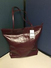 LATICO Wine Burgundy Maroon Leather Bag Floral Shoulderbag Tote Purse NWT
