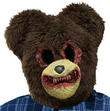 Bloody Scary Teddy Bear Plush Adult Mask