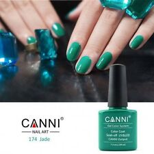 174 CANNI JADE GREEN TEAL UV LED SOAK OFF GEL COLORS NAIL ART 7.3ml UK SELLER