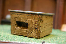 Detailed Model Railway Garden Shed Painted For HO / OO New 000