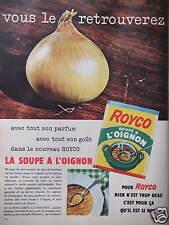 PUBLICITÉ ROYCO LA SOUPE A L'OIGNON