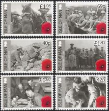 Isle of Man 2014 First World War 100th/WWI/Soldiers/Horses/Army/War 6v (n44897)