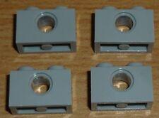 Lego Technik 4 Lochsteine 1 x 2 in neu hell grau