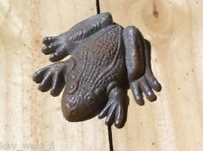 "Cast Iron ~ TREE FROG ~ Vintage Collectable Shelf Decor { 3 1/2"" Long } ~ by PLD"