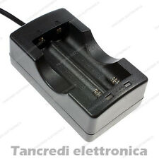 Caricabatterie doppio per batteria al litio li-ion lir icr 18650 battery charger