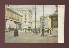 Italy TRIESTE Piazza Goldoni Early street c1900/10s? PPC