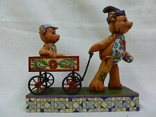Jim Shore Pull Me Now And Ill Pull You Later Bears and Wagon Figurine 4009601