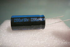 2200 uf 50V 2200mfd LOT OF 4 PIECES JAMICON RADIAL CAPACITORS 105c USA FREE SHIP