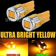 2X T10 921 High Power 2835 Amber Chip LED License Plate Interior SMD Light Bulbs
