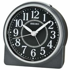 Seiko Beep Alarm Clock with Snooze & Light - Lumibrite - Black
