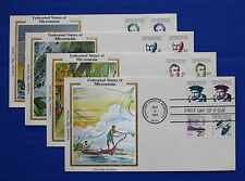 "Micronesia (5-20) 1984 Explorers & Views Colorano ""Silk"" FDC set"